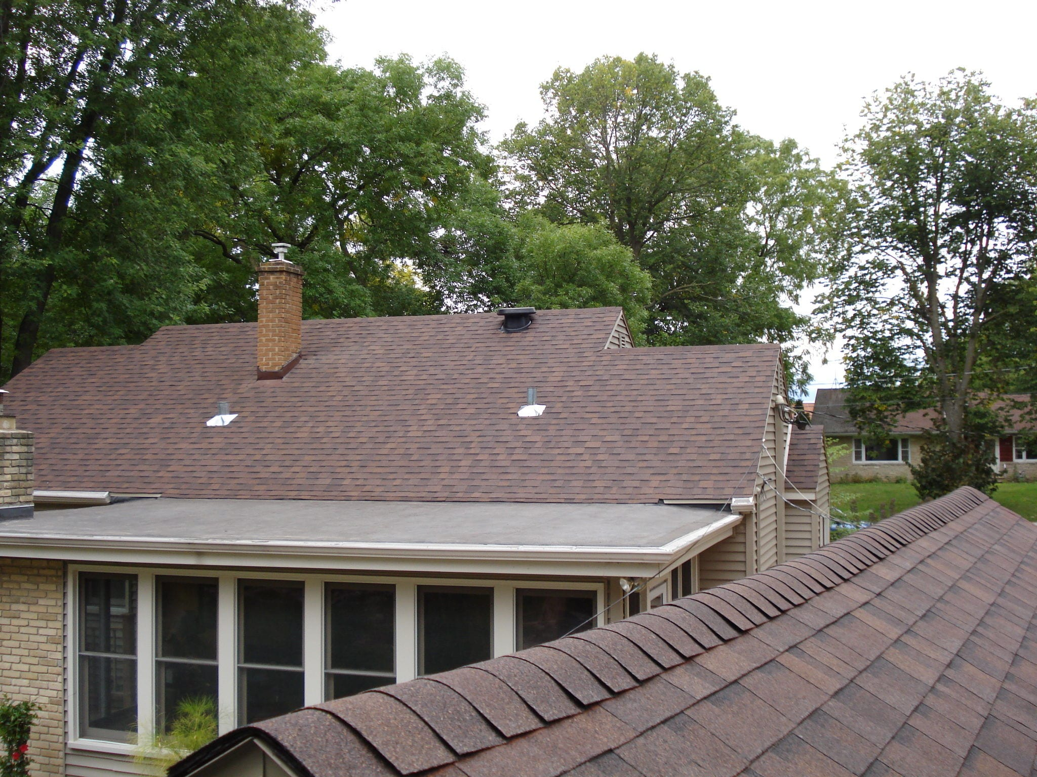 Project 552 all state roofing inc Low pitched roof